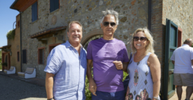 Dr. John Rosa with Andrea Bocelli and his wife Maureen.